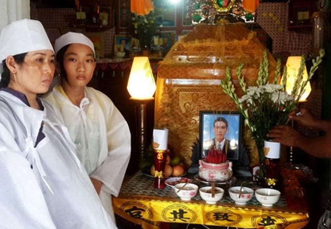Tài công Ngô Văn Sinh qua đời bỏ lại vợ và 2 con đang đi học chưa biết nương tựa vào đâu - Ảnh K.Nam