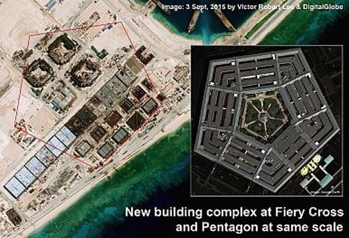 Trung Quốc xây công trình như Lầu Năm Góc ở Trường Sa ảnh 2