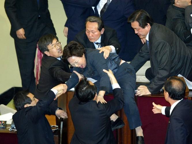 Chính khách choảng nhau bằng…kungfu như xã hội đen ảnh 28