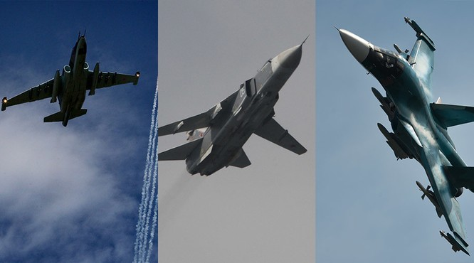 Nga đồng loạt triển khai các máy bay cường kích Su-24, Su-25 và Su-34 tham gian chiến dịch không kích tại Syria