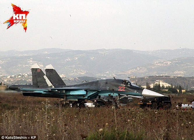 Chiến đấu cơ Nga có mặt tại căn cứ Latakia tại Syria đang tiến hành chiến dịch không kích kéo dài từ 3.4 tháng
