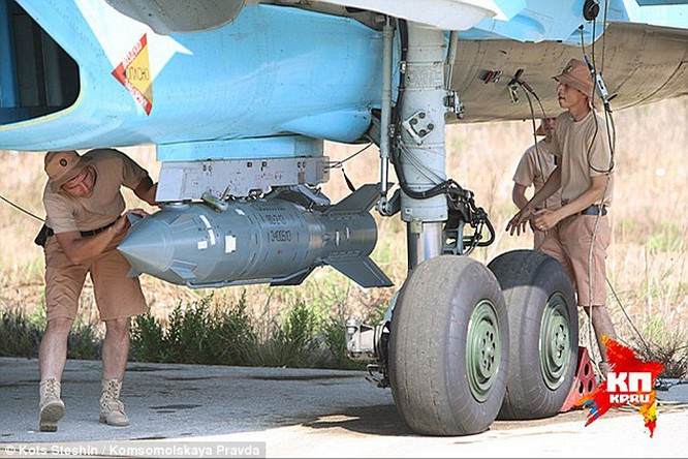 Binh sĩ Nga chuẩn bị cho đợt oanh kích tiếp theo tại Syria