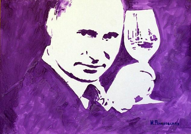 Bức chân dung tổng thống Nga Putin được vẽ bằng cặp tuyết lê của nữ họa sĩ đã bị đánh cắp
