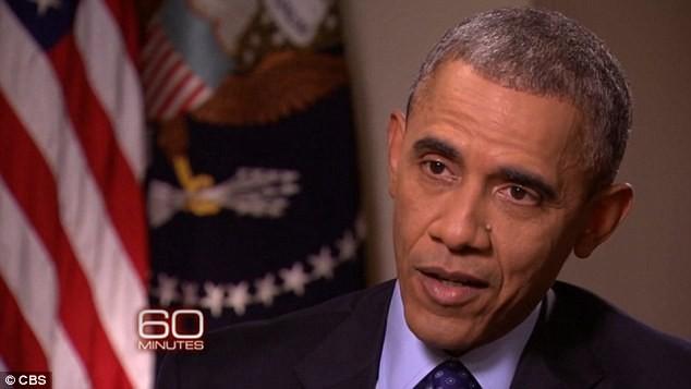 Ông Obama trong chương trình truyền hình 60 phút của kênh CBS News