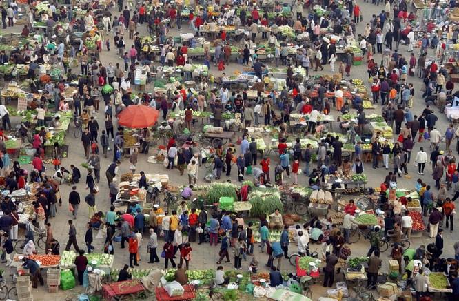 Mua rau phiên chợ sáng tại Bắc Kinh