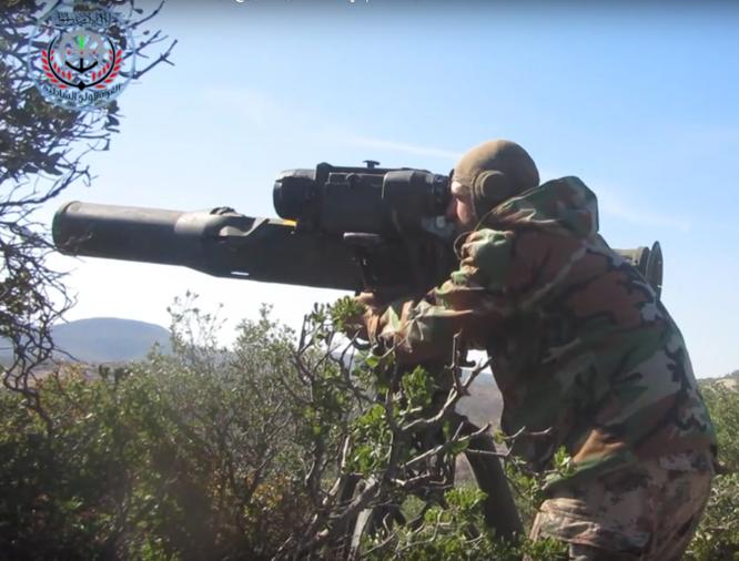 Tên lửa diệt tăng TOW do A rập Xê út cung cấp cho phiến quân Syria