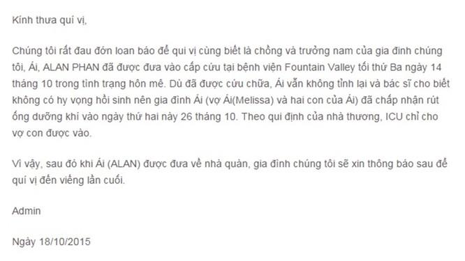 Chuyên gia kinh tế Alan Phan đang 'hôn mê sâu' - ảnh 2