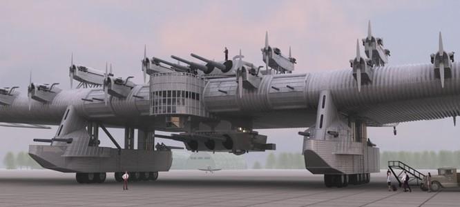 """Sốc với """"pháo đài bay"""" khổng lồ tuyệt mật của Nga ảnh 4"""