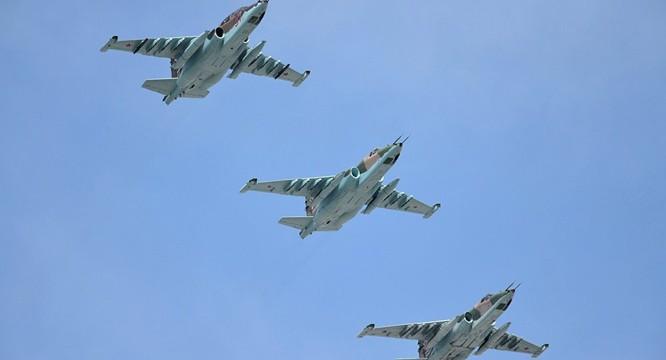 Phi đội chiến đấu cơ Su-25 của Nga tác chiến tại Syria