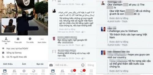 Giả mạo Facebook của thành viên IS gây hoang mang tại Việt Nam ảnh 1