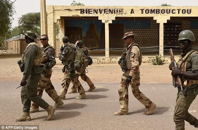 Binh sĩ Pháp có mặt tại khu vực hỗ trợ lực lượng Mali
