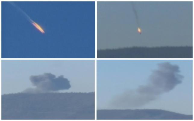 Máy bay Su-24 trúng tên lửa bốc cháy và rơi xuống địa phận tỉnh Latakia
