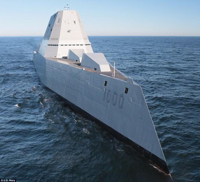 Siêu khu trục hạm giá 3 tỷ USD của Mỹ mới hạ thủy