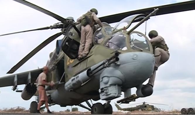 trực thăng tấn công của Nga tham chiến tại Syria
