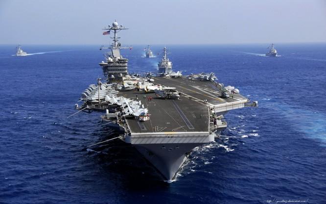 Tàu sân bay USS John C. Stennis đã tiến vào Biển Đông
