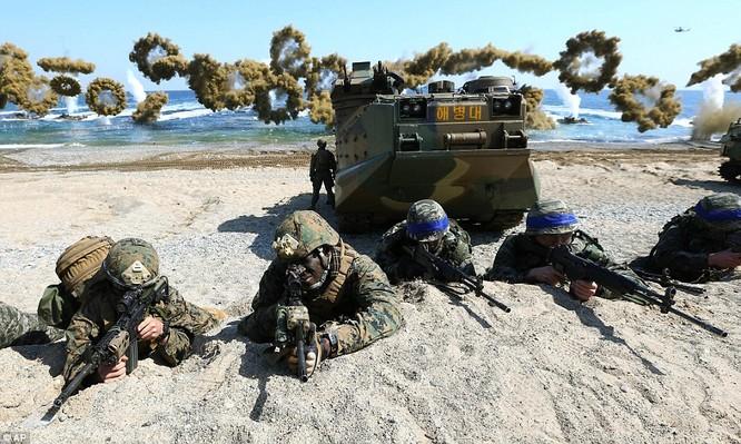 Cận cảnh 317.000 quân Mỹ-Hàn rầm rộ tập trận đổ bộ ảnh 12