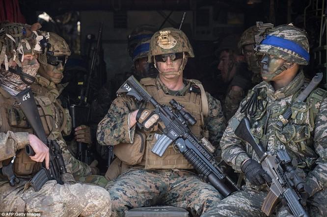 Cận cảnh 317.000 quân Mỹ-Hàn rầm rộ tập trận đổ bộ ảnh 6