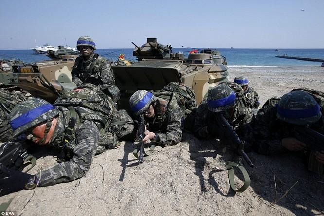 Cận cảnh 317.000 quân Mỹ-Hàn rầm rộ tập trận đổ bộ ảnh 9