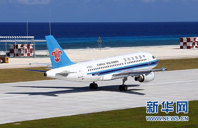 Trung Quốc ngang nhiên cho máy bay đáp xuống Đá Chữ Thập, thách thức dư luận quốc tế, gây căng thẳng khu vực