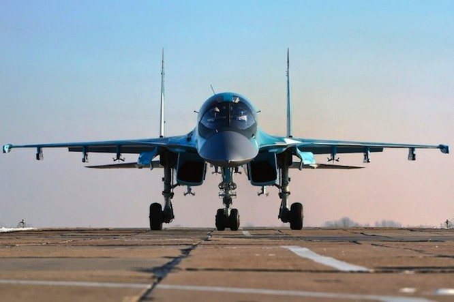 Các chiến đấu cơ Su-34 và Su-35 vẫn sẽ ở lại Syria sau khi ông Putin tuyên bố rút quân