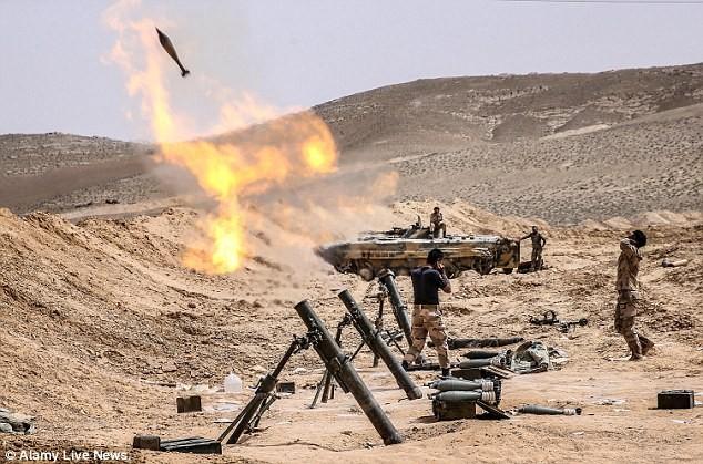 Quân đội Syria đang đánh chiếm nhiêu khu vực tại thành cổ Palmyra