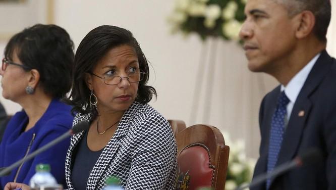 Ông Obana và cố vấn an ninh Susan Rice