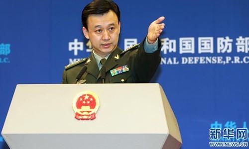 Người phát ngôn Bộ Quốc phòng Trung Quốc ngang nhiên tuyên bố chủ quyền với các đảo trên Biển Đông. Ảnh: Xinhua