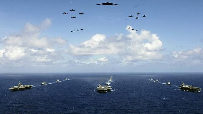 Cụm tác chiến tàu sân bay Mỹ tập trận RIMPAC vơi hải quân các nước