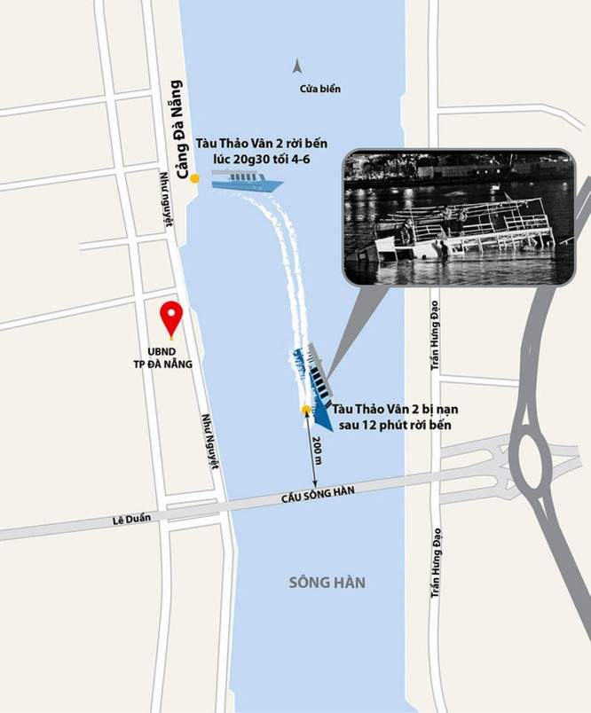 """Tàu chở 56 người lật trên sông Hàn, vì sao chạy """"chui"""" mà không ai phát hiện? ảnh 1"""