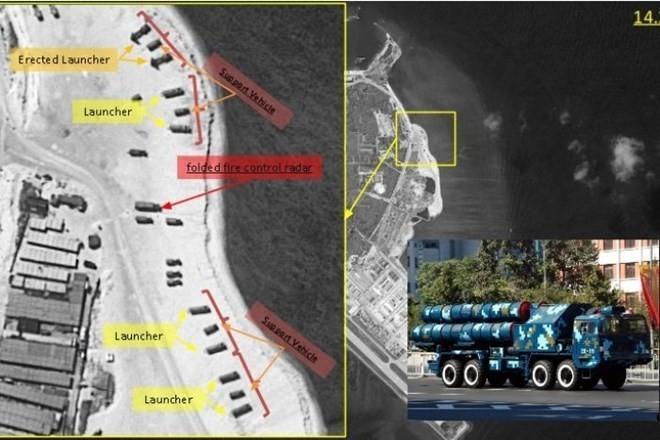 Trung Quốc đã triển khai tên lửa chống hạm YJ-62 ra đảo Phú Lâm ở quần đảo Hoàng Sa của Việt Nam, quân sự hóa Biển Đông nhưng lại đổ lỗi cho Mỹ leo thang căng thẳng
