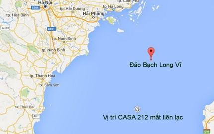 Máy bay CASA 212 mất liên lạc cách phía Nam - Tây Nam đảo Bạch Long Vĩ (Hải Phòng) khoảng 44 hải lý