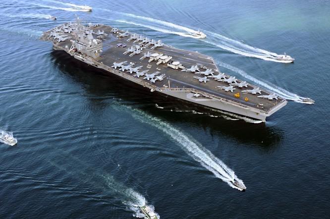 Mỹ thể hiện rõ ý định cùng lúc duy trì 2 cụm tác chiến tàu sân bay ở tây Thái Bình Dương