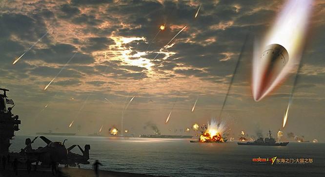 Mô phỏng cảnh quân đội Trung Quốc tấn công tiêu diệt hạm đội Mỹ của cư dân mạng Trung Quốc