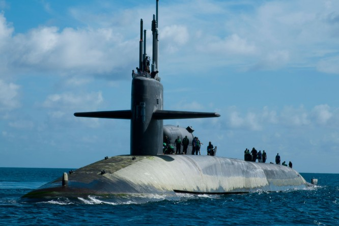 Tàu ngầm hạt nhân lớp Ohio của Mỹ cũng thường xuyên lảng vảng ở Biển Đông
