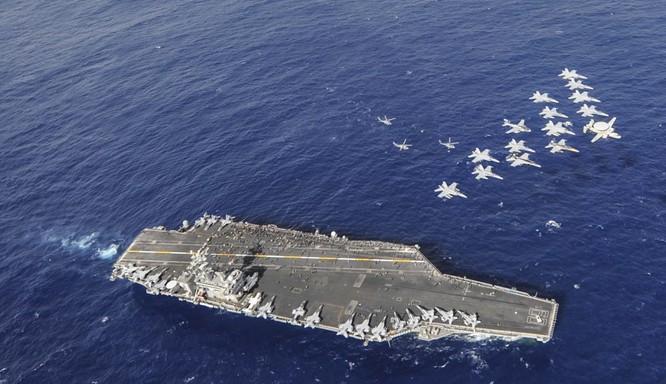 Cụm tác chiến tàu sân bay Mỹ thường trực ở châu Á-Thái Bình Dương đề phòng bất trắc