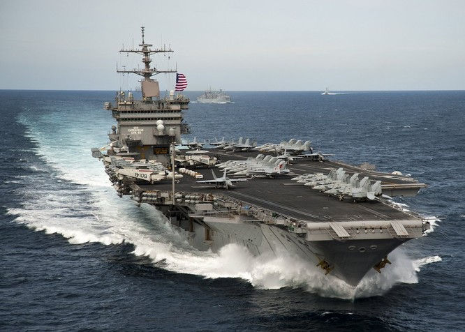 Cụm tác chiến tàu sân bay Mỹ thường trực tại Biển Đông thời gian gần đây, gửi thông điệp không thể nhầm lẫn tới Trung Quốc