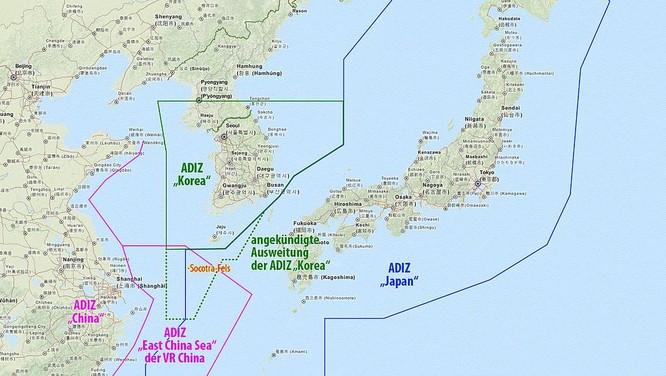 Trung Quốc có thể tuyên bố lập vùng nhận diện phòng không như đã làm tại biển Hoa Đông năm 2013