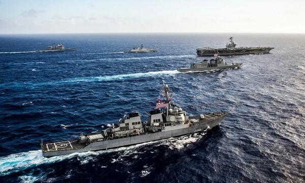Hải quân Mỹ, Nhật Bản và Ấn Độ tập trận chung trên biển