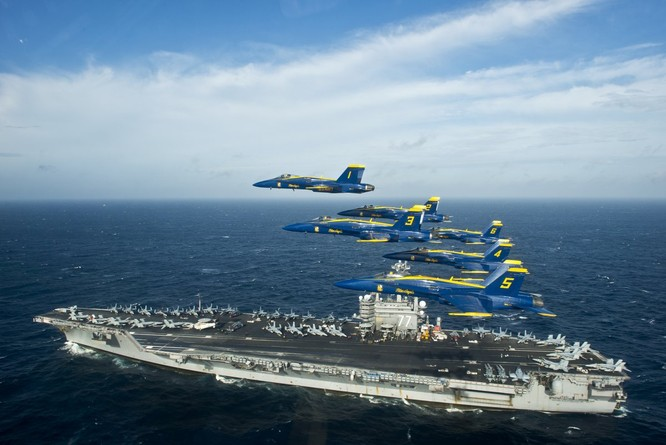 Mỹ dự định vận hành cùng lúc hai cụm tác chiến tàu sân bay tại châu Á-Thái Bình Dương