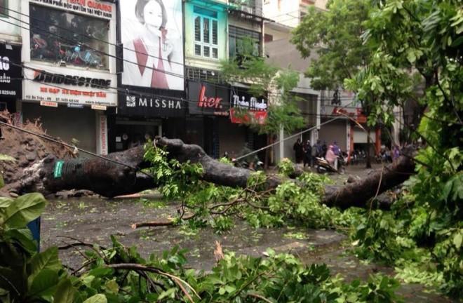 Hà Nội: Nhiều tuyến phố ngập nặng và mất điện vì mưa to, gió giật mạnh ảnh 15