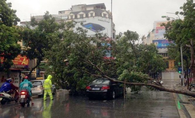 Hà Nội: Nhiều tuyến phố ngập nặng và mất điện vì mưa to, gió giật mạnh ảnh 17