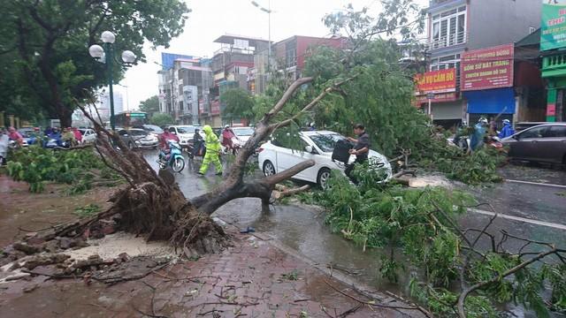 Hà Nội: Nhiều tuyến phố ngập nặng và mất điện vì mưa to, gió giật mạnh ảnh 34