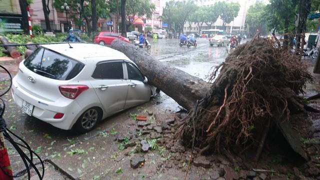 Hà Nội: Nhiều tuyến phố ngập nặng và mất điện vì mưa to, gió giật mạnh ảnh 25