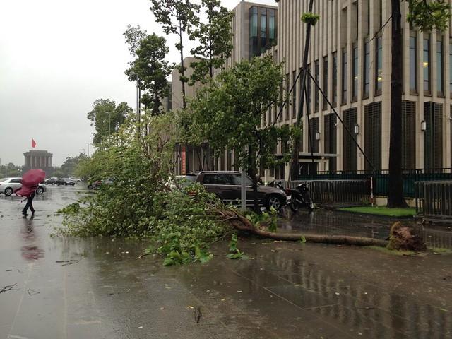Hà Nội: Nhiều tuyến phố ngập nặng và mất điện vì mưa to, gió giật mạnh ảnh 22