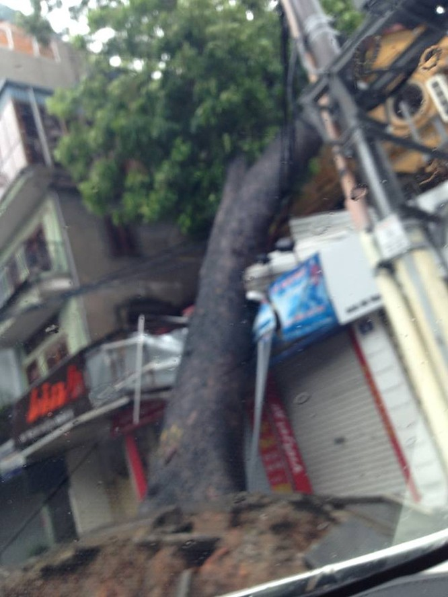 Hà Nội: Nhiều tuyến phố ngập nặng và mất điện vì mưa to, gió giật mạnh ảnh 21