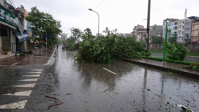 Hà Nội: Nhiều tuyến phố ngập nặng và mất điện vì mưa to, gió giật mạnh ảnh 39