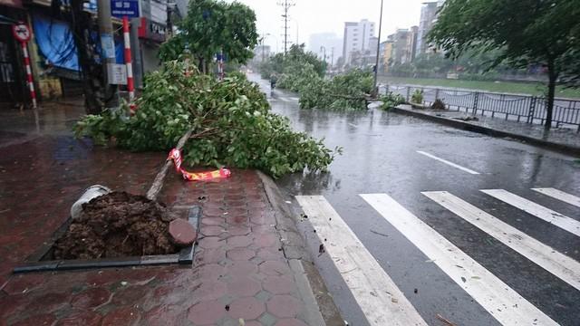 Hà Nội: Nhiều tuyến phố ngập nặng và mất điện vì mưa to, gió giật mạnh ảnh 41