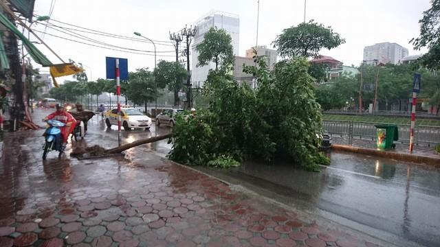 Hà Nội: Nhiều tuyến phố ngập nặng và mất điện vì mưa to, gió giật mạnh ảnh 40