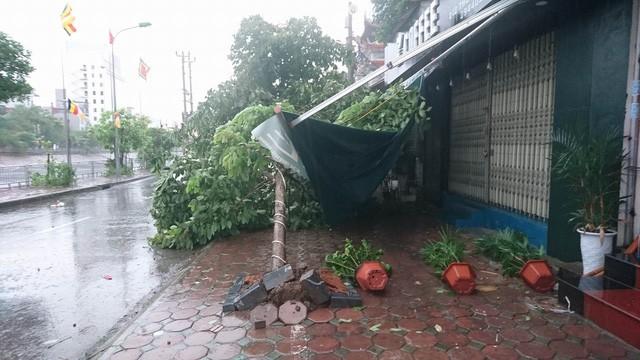 Hà Nội: Nhiều tuyến phố ngập nặng và mất điện vì mưa to, gió giật mạnh ảnh 37