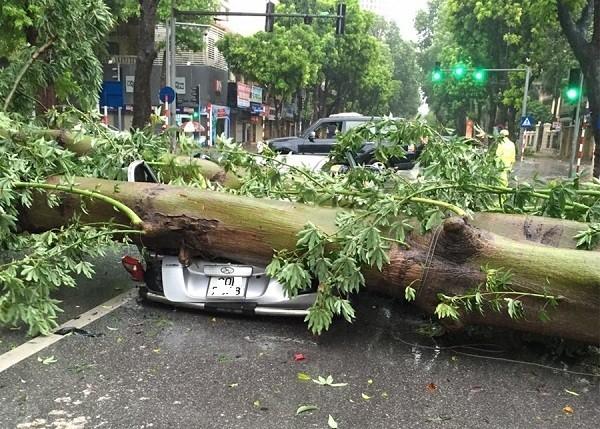 Hà Nội: Nhiều tuyến phố ngập nặng và mất điện vì mưa to, gió giật mạnh ảnh 3